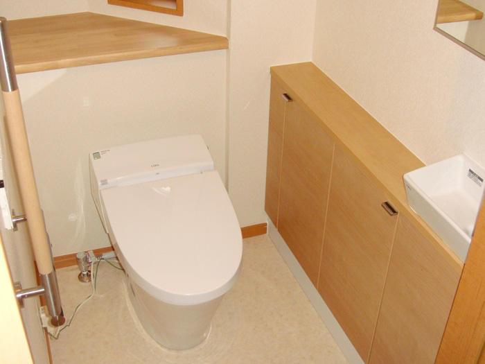 より広さを感じられる空間と機能性をアップしたトイレ