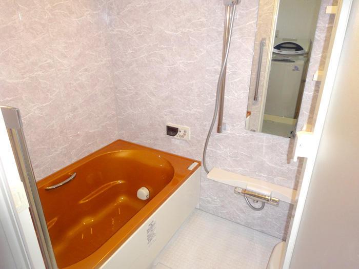あっと驚くカラーリングで仕上げたバスルーム