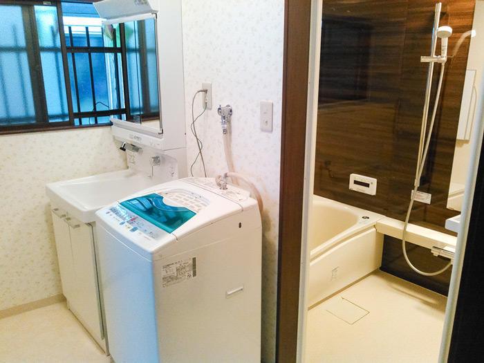 広々として使いやすくなった洗面所とバスルーム