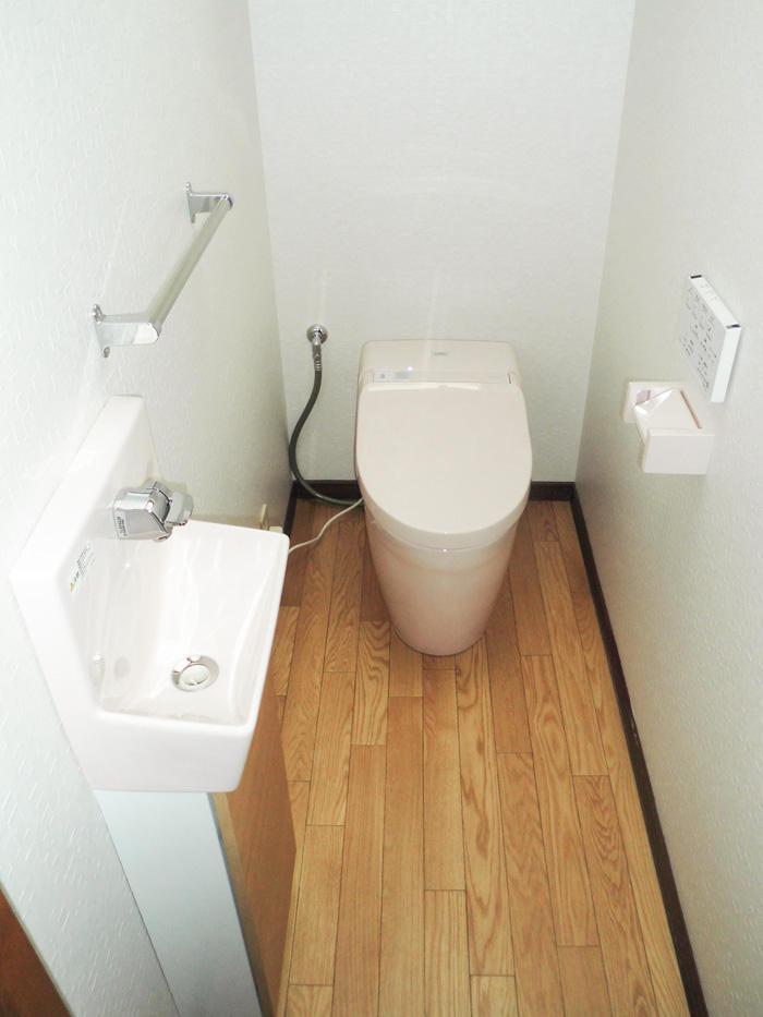 掃除しやすくかわいらしいトイレルーム