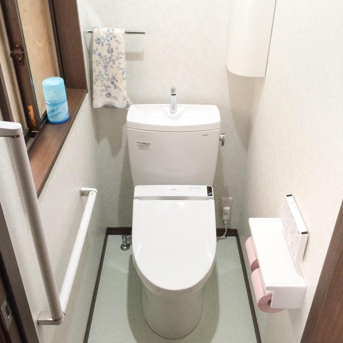 動線を変更して利用しやすいトイレに