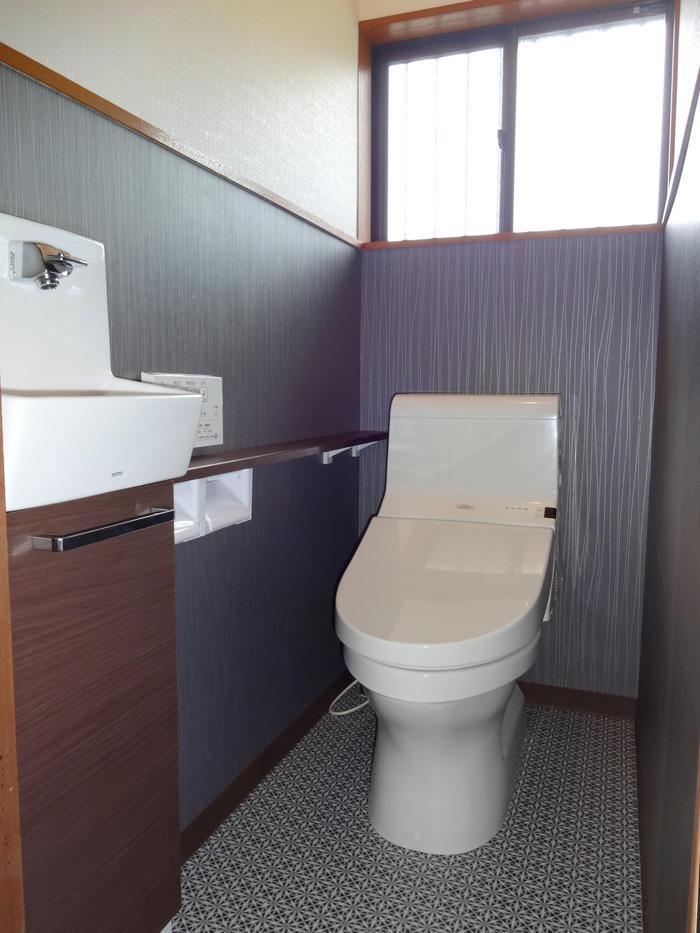 小さなお孫様もつかいやすい安全な洋式トイレ