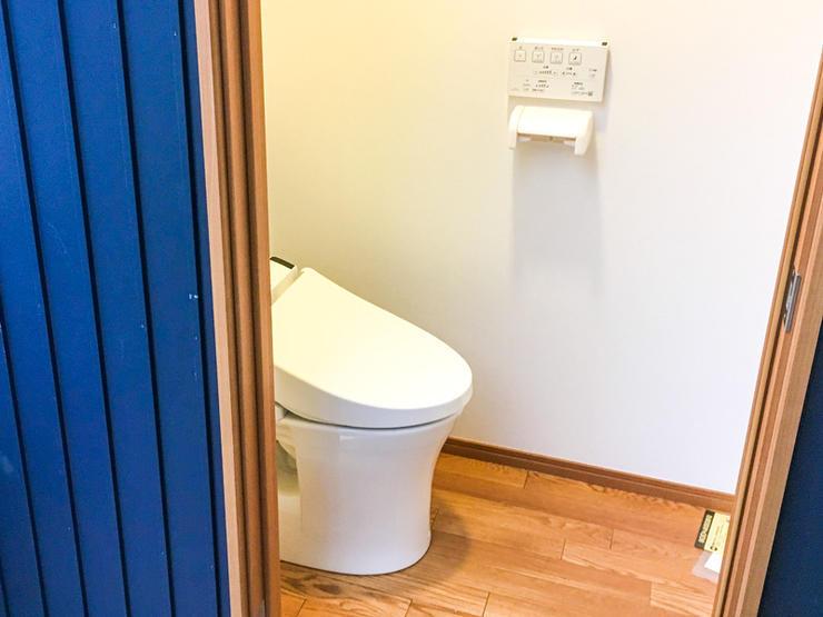 周辺設備の仕上げもばっちりのトイレ増築