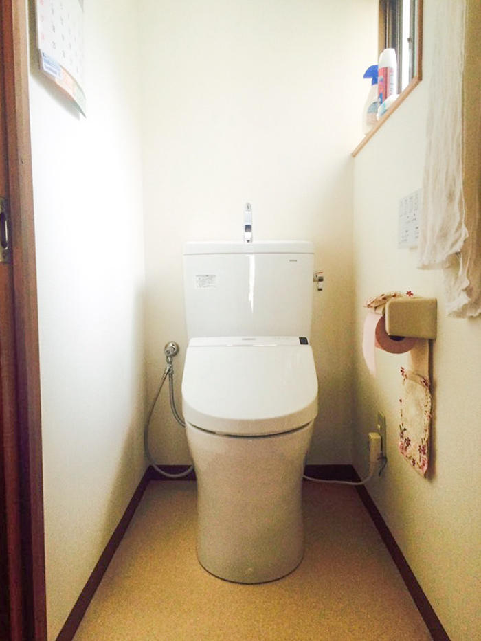 20年越しに最新型へ!お掃除楽ちん節水トイレ