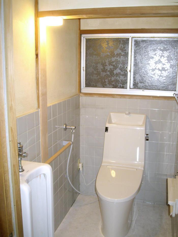袖壁をなくし広々明るく使いやすくなったトイレ