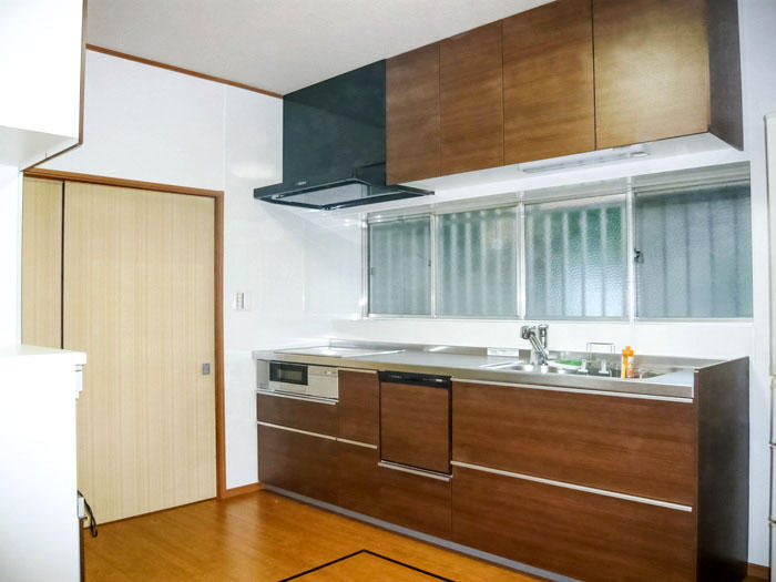 二世帯でも使いやすく広いキッチン