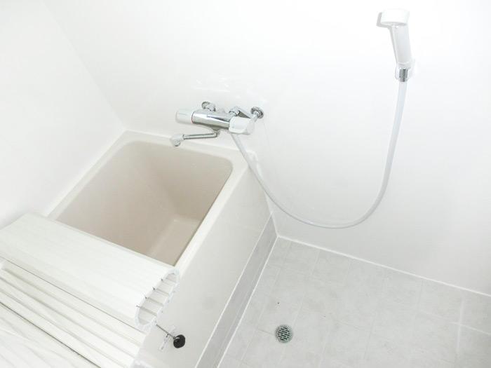 従来式の明るく使い勝手の良いお風呂に
