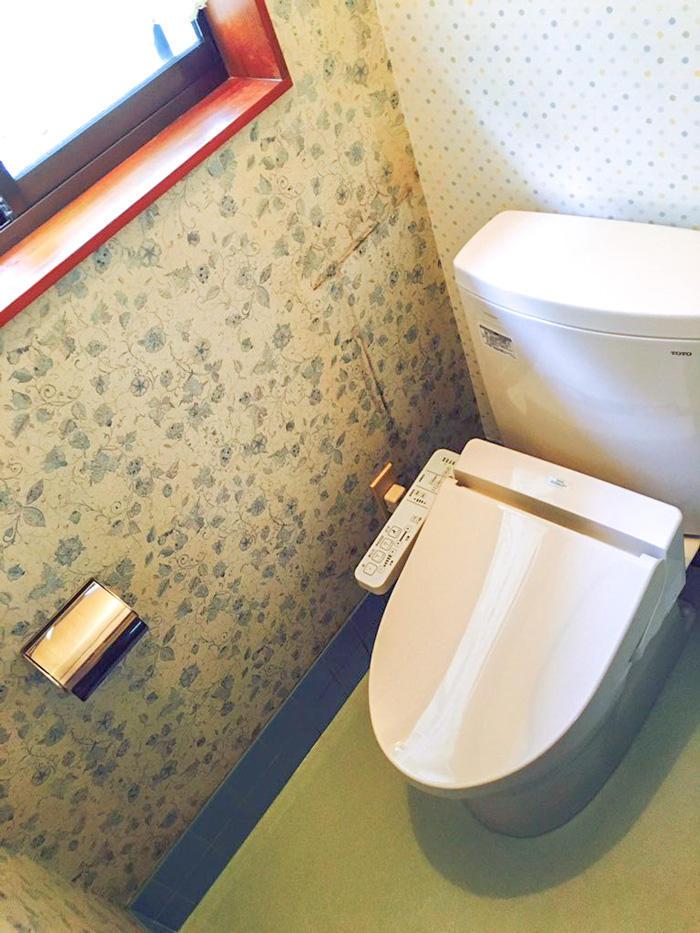 介護保険を使い和式から洋式タイプになったトイレ