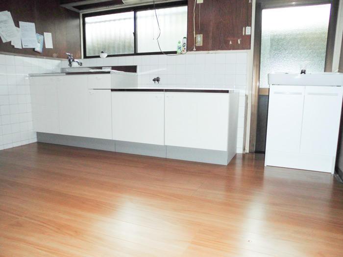 しっかり補強した床の安心キッチン