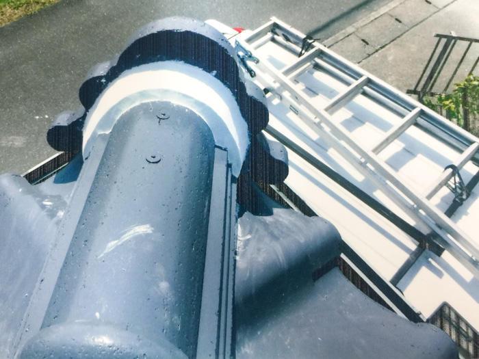 漆喰屋根の修繕