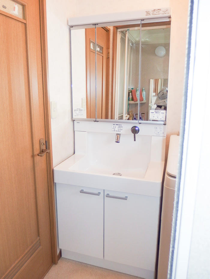 清潔感のある使いやすい洗面台
