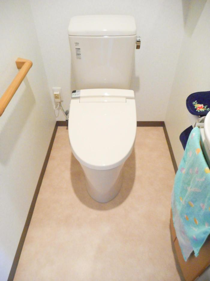 流れがよくなり掃除も楽なトイレに