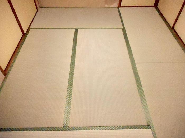 寒い時期には1日で畳の表替え