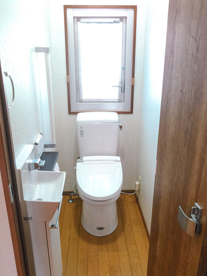 空間にゆとりある使いやすいトイレ