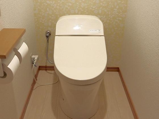 節水を考えた最新タンクレストイレへ