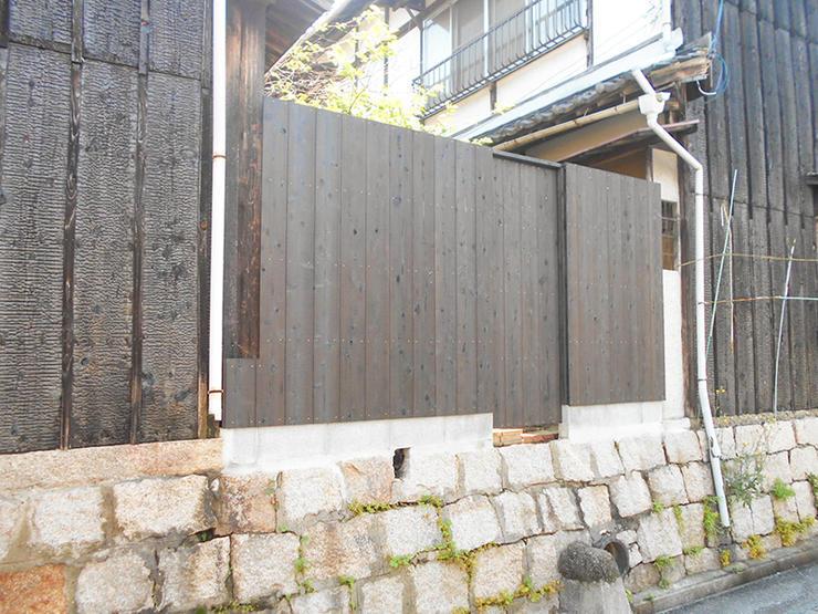 和風の自宅に添えて違和感のない柵