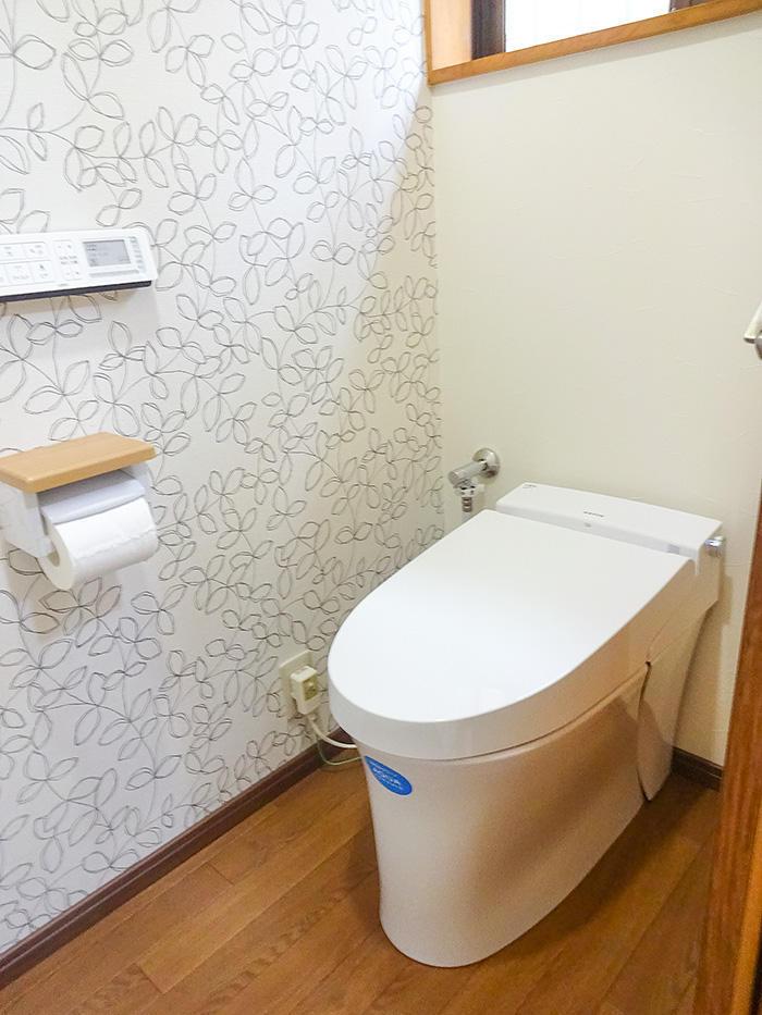 明るいナチュラルテイストなトイレ