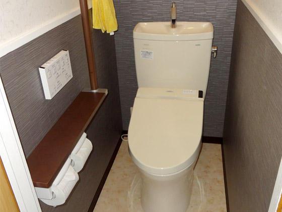 祖父母から孫まで誰もがくつろげるトイレ