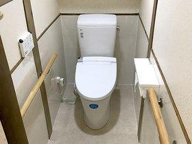 費用を抑えながらも掃除しやすくしたトイレ