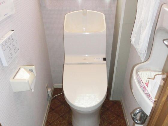 掃除もしやすい節水トイレに早変わり