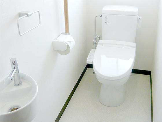 腰に負担をかけない洋式トイレ