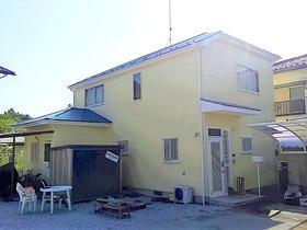 お客様が希望した青系の色に合わせた外壁・屋根リフォーム