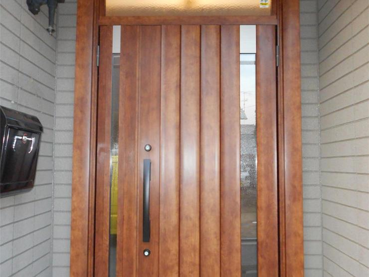 こだわりの玄関ドアは想像通りの仕上がりで大満足!