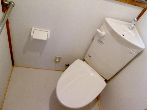 広く綺麗に使えるコーナートイレ
