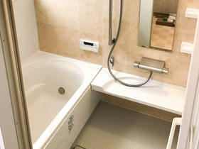 カビ等の原因である湿気が無くなり、お手入れも楽になった浴室