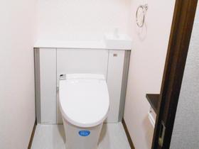 アクセントクロスで可愛く爽やかなトイレ空間