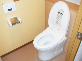 見栄え良く、内装が映える仕上がりのタンクレス風トイレ