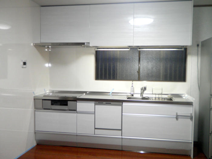 機能性が格段に上がった清潔感のあるキッチン