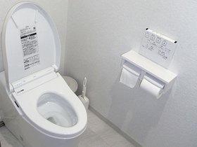 空間を拡張し、希望通りの手洗いを設置したトイレ
