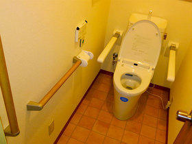 入口の段差を解消し介護がしやすくなったトイレ
